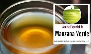 El aceite esencial de manzana verde uno de los más populares por sus propiedades antiespasmódicas