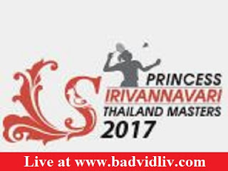 Princess Sirivannavari Thailand Masters 2017 live streaming and videos