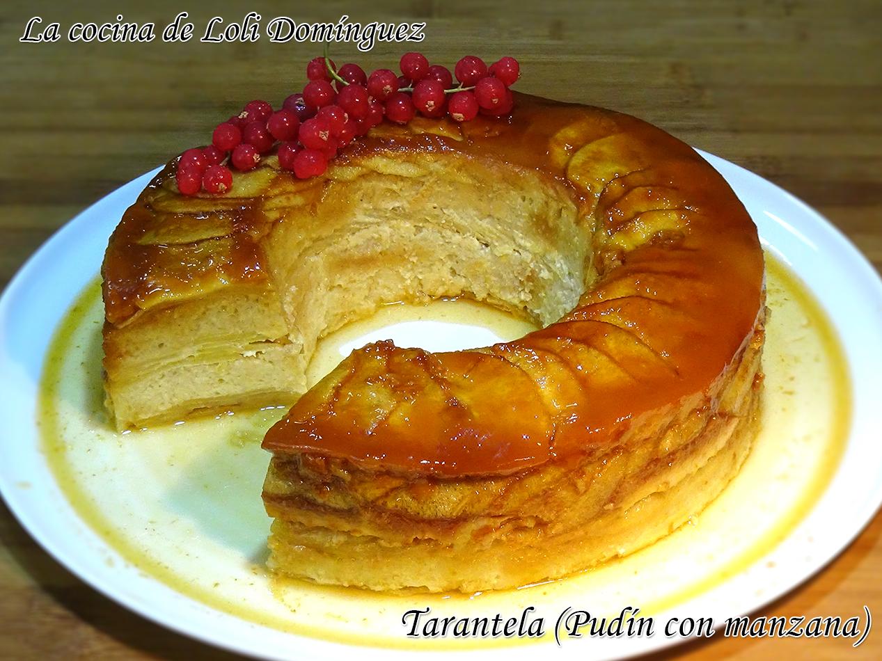 La cocina de loli dom nguez tarantela pud n con manzana for Chema de isidro canal cocina
