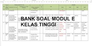 BANK SOAL MODUL E KELAS TINGGI GURU PEMBELAJAR