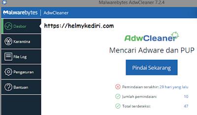 Menggunakan AdwCleaner