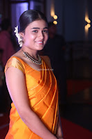 Shalini Pandey in Beautiful Orange Saree Sleeveless Blouse Choli ~  Exclusive Celebrities Galleries 032.JPG