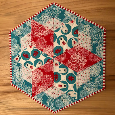 Quilted Round Table Toppers.Table Toppers