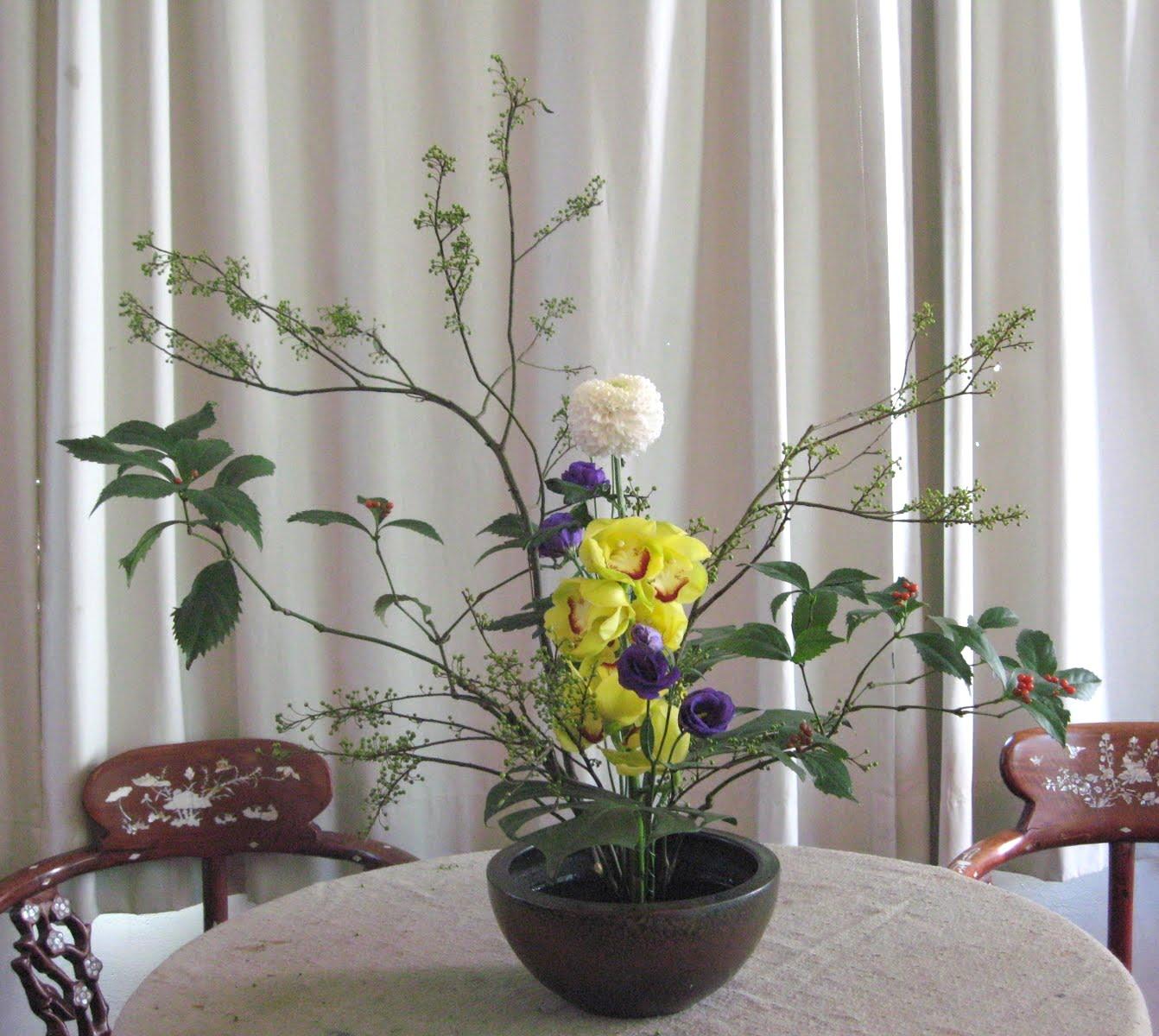 綺綺布作室: 中華花藝(研一上-13)碗花-行型第一型