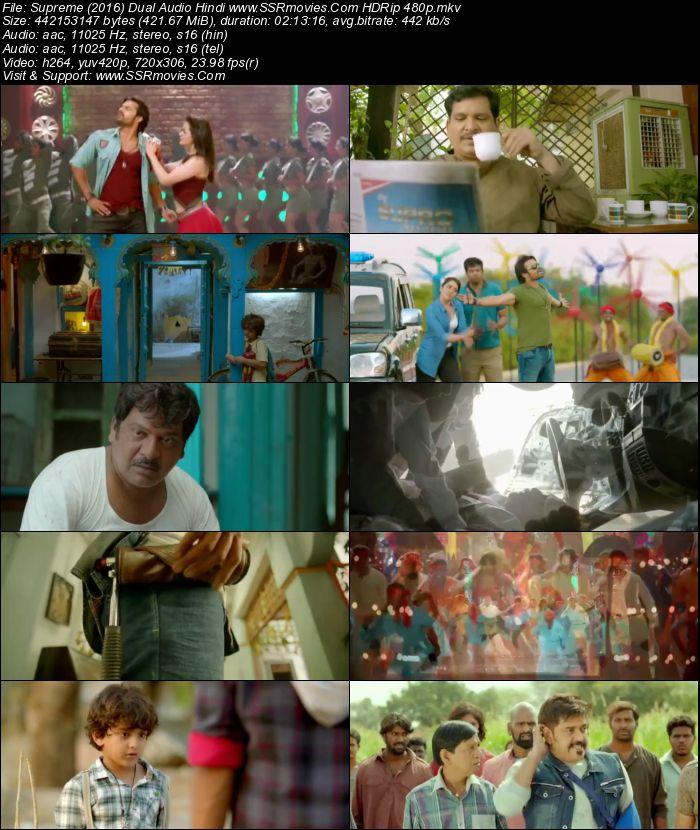 Supreme (2016) Dual Audio Hindi HDRip 480p 400MB
