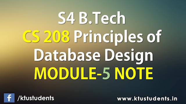 ktu cs208 note module5