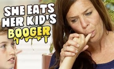 Funny Video – Mom Snacks On Her Son's BOOGERS Prank