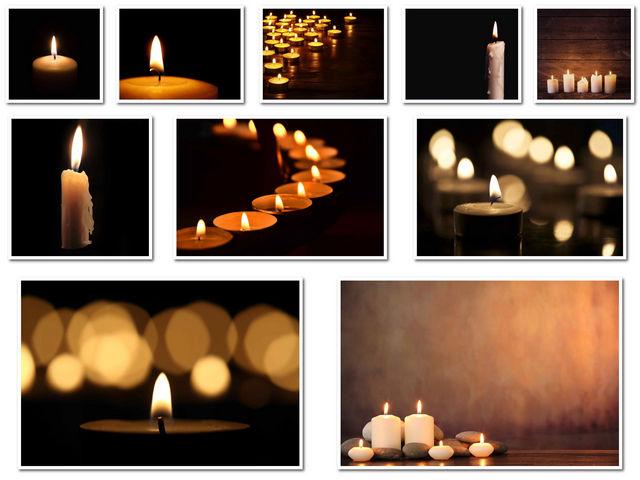 10 صور للشموع في اماكن مختلفة بجودة عالية