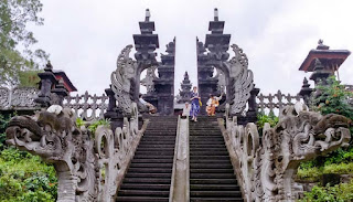 Besakih temple located at the foot of Mount Agung