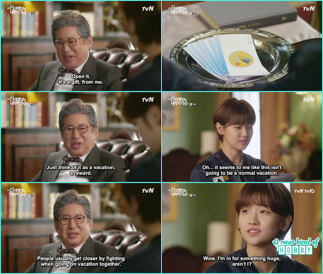 grandfather give tickets to ha won for a vacation trip - Cinderella and Four Knights - Episode 7 Review - I Love Her, I Love Her Not