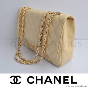 Crown Princess Mary style CHANEL Coco Caviar Bag