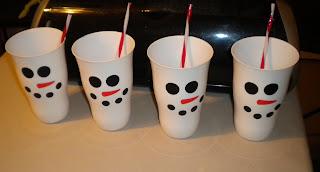 Jean S Crafty Corner Snowman Cups