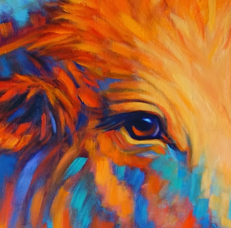 Colorful Art: Paintings By Theresa Paden: Colorful Contemporary Longhorn