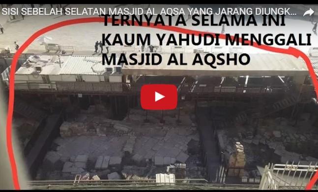 [video] SISI SEBELAH SELATAN MASJID AL AQSA YANG JARANG DIUNGKAP MEDIA