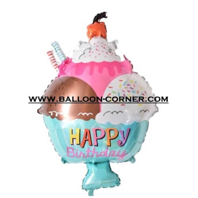 Balon Foil HAPPY BIRTHDAY Ice Cream (NEW)
