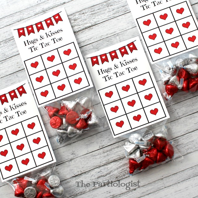 graphic about Tic Tac Toe Valentine Printable identify The Partiologist: Hugs Kisses Tic Tac Toe!