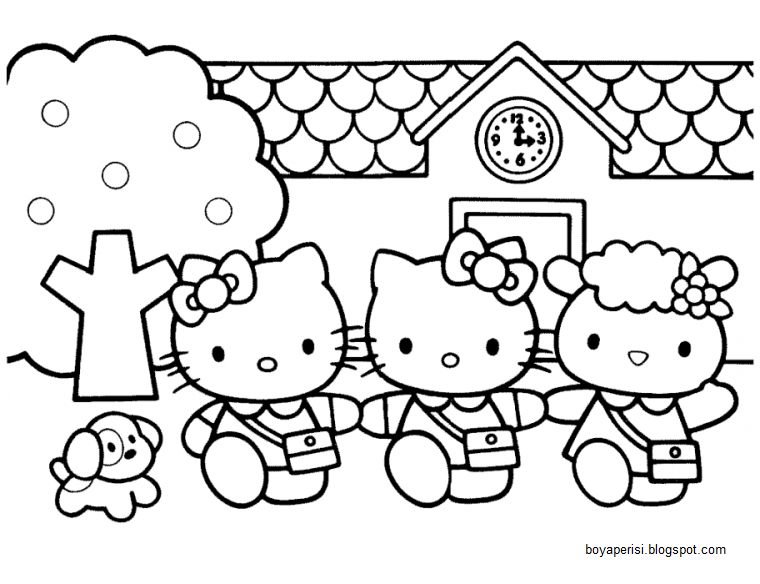 Boyama Kitaby Hello Kitty Boyama Resim Cizmek