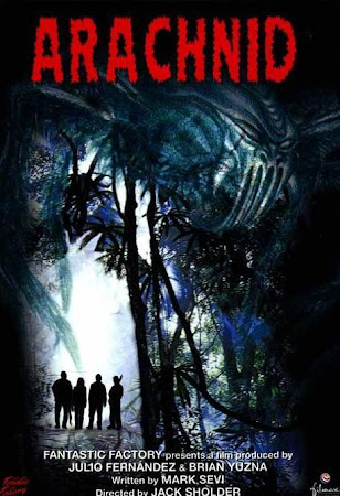 Poster Of Arachnid In Dual Audio Hindi English 300MB Compressed Small Size Pc Movie Free Download Only At worldfree4u.com