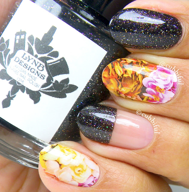 Halloween Floral Nails