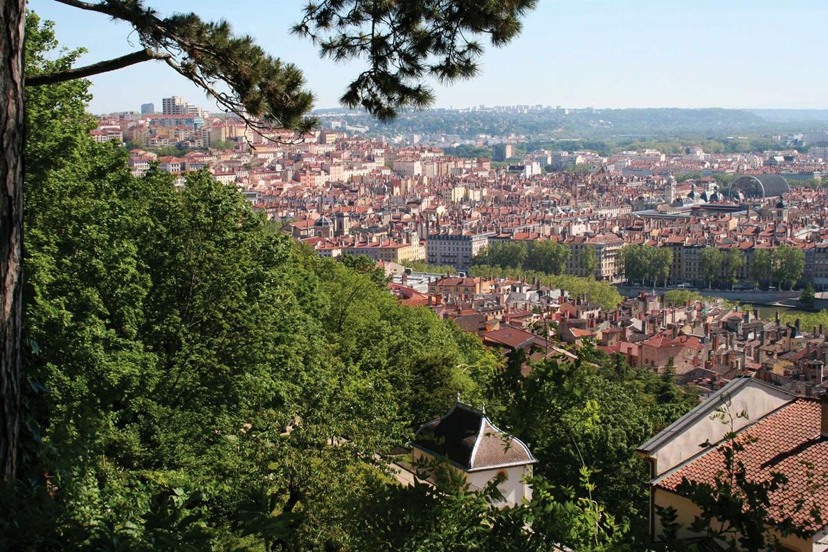Lyon vue panoramique Jardin Rosaire Visites guidées