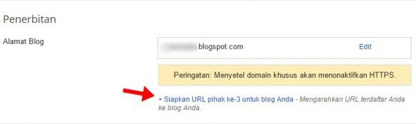 cara mengganti domain blogspot menjadi .com