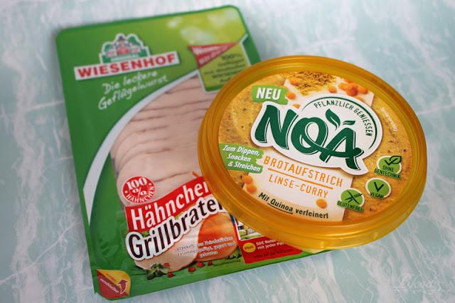 NOA Pflanzlicher Aufstrich 'Linse-Curry' & Wiesenhof Hähnchen-Grillbraten