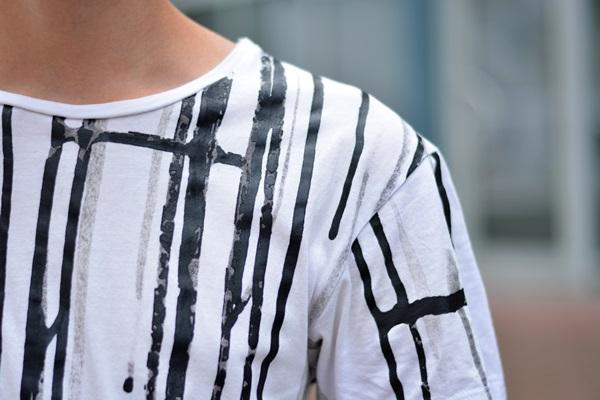 Detailaufnahme des shirts
