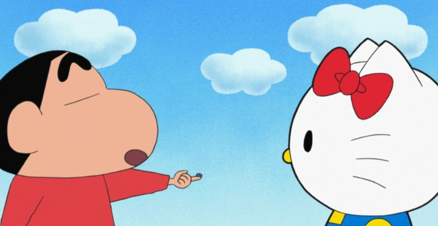 Hello Kitty Akan Muncul di Anime Crayon Shin-chan