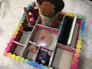 DIY...Como fiz um organizador de maquilhagem
