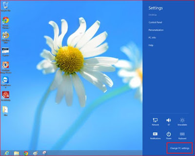 change pc setting win 8