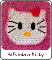 Alfombra Hello Kitty trapillo