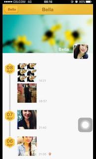 Cara chat PDKT Bee Talk Lihat Sekitar