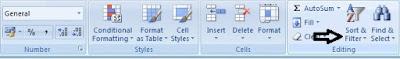 Filter Excel percepat pekerjaan