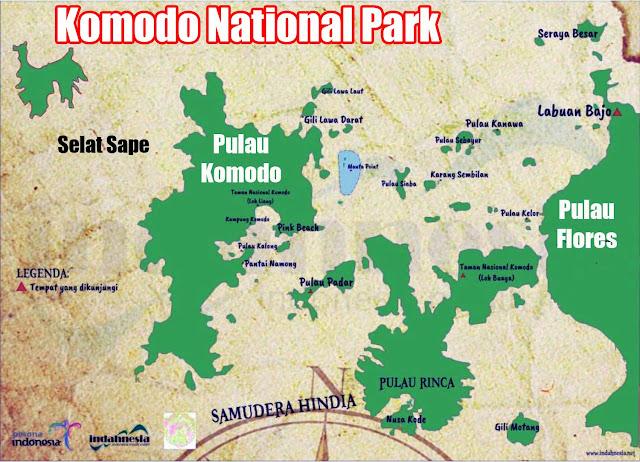 Gambar Peta Taman Nasional Komodo