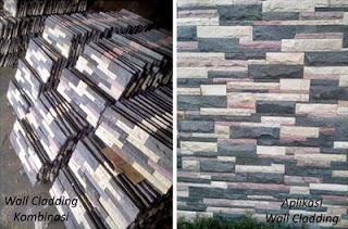 Gambar Batu Alam Wall Cladding untuk Templek Dinding Rumah Minimalis