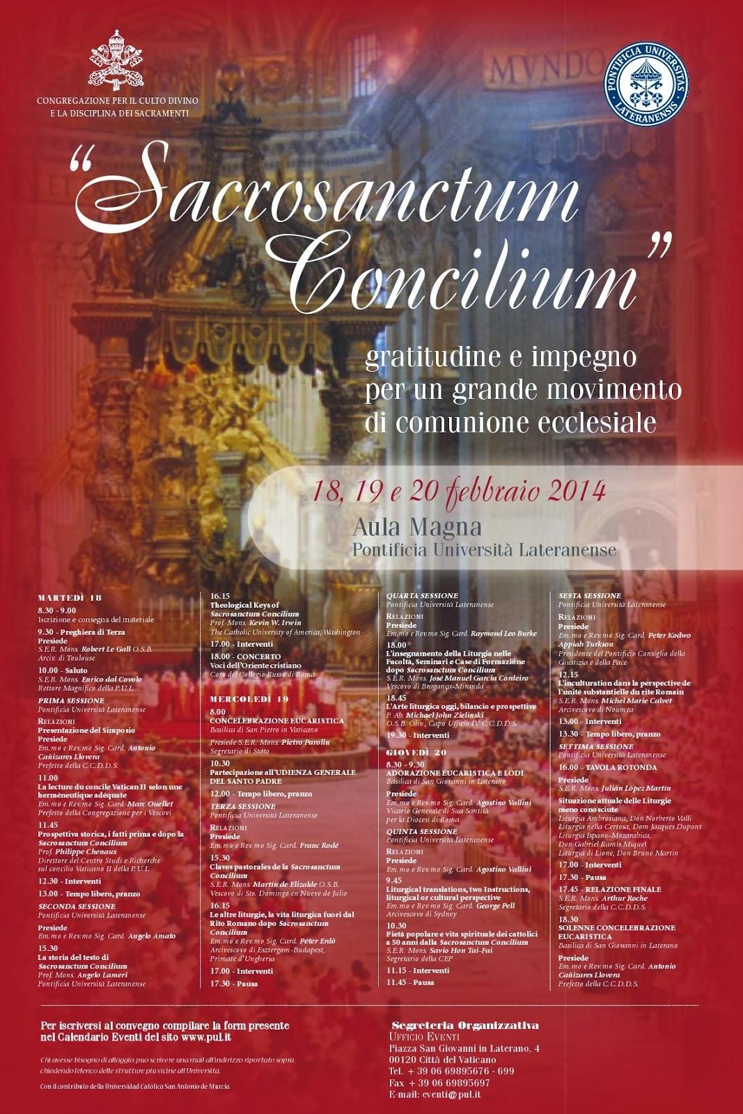 sacrosanctum concilium testo latino dating
