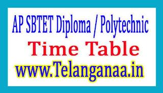 AP SBTET Diploma / Polytechnic C-96 Time Table 2017