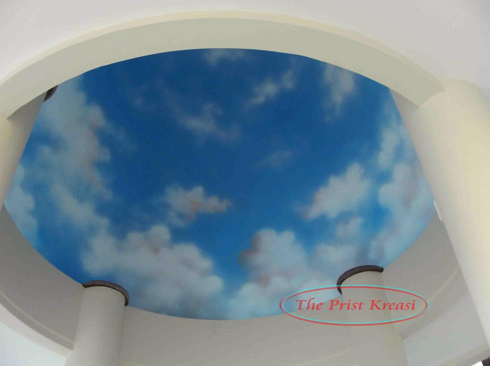 yakni cara atau tehnik mempercantik sebuah plafon  gypsum yang kaya akan seni Jasa lukis awan diplafon | plafon lukisan awan