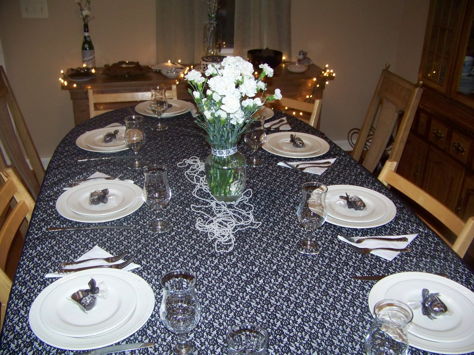 Black And White Birthday Table Decorations