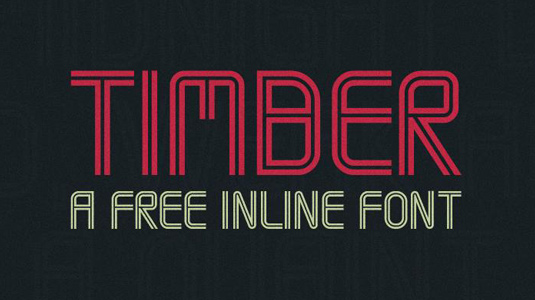 timber inline font
