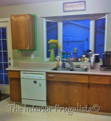 Inexpensive kitchen update Before
