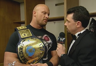 WWF - Over the Edge 1998 Review - Michael Cole interviews WWF Champion Stone Cold Steve Austin