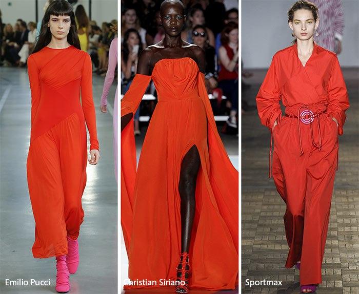 Модный цвет лето 2017 - пламя