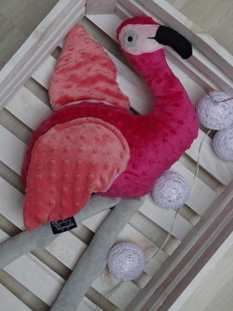 różowy flaming przytulanka 2