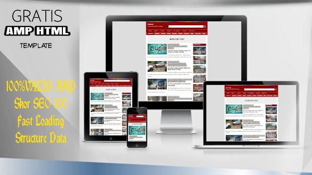 Download Template Valid Amp SEO Friendly Fast Loading Yang Di Pakai Blog Otomologi