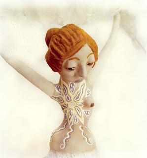 Breast Cancer Survivor Art Doll with Mastectomy Tattoo