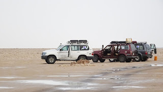 Our Jeeps that brought us to the desert