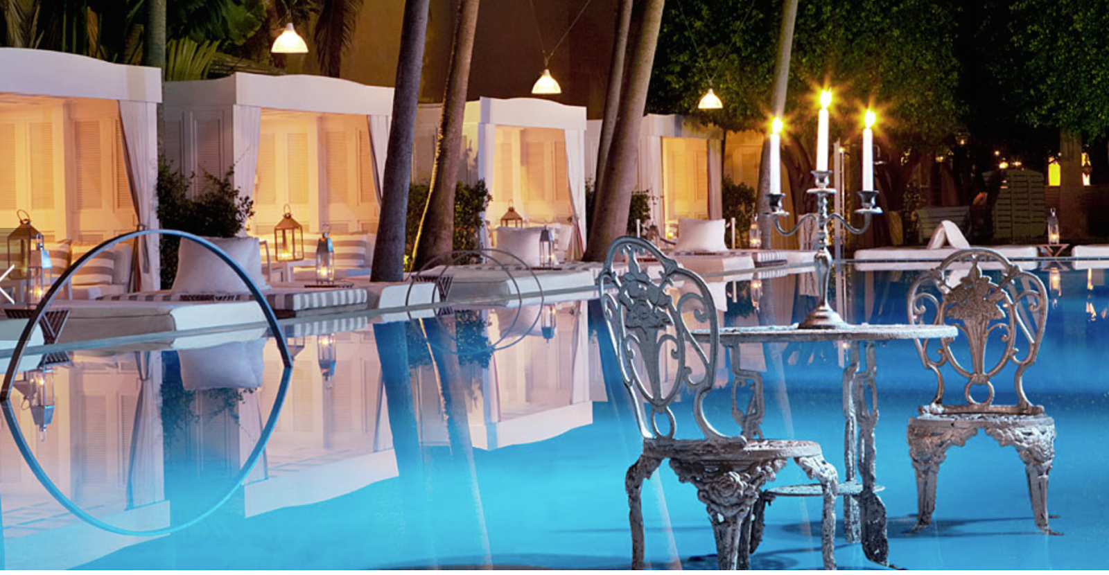 the delano south beach pool and cabanas