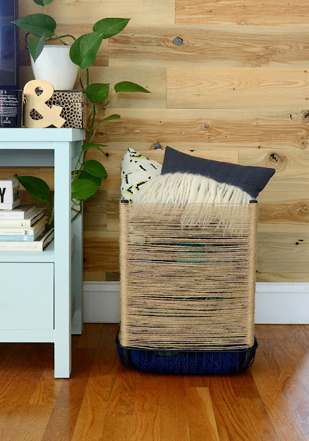 Design zum Selbermachen: Hocker zum Korb umwandeln – ideal für Kissen und Decken, Teddybär und Kuscheltiere