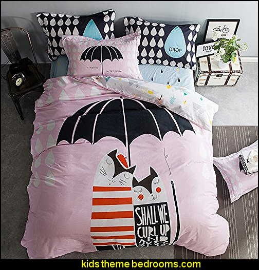 Cat in The Rain Duvet Covers